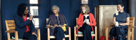 Melanie Harris, Alice Walker, Gloria Steinem, Chung Hyun Kyung