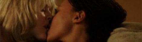 Caroline and Kate kissing