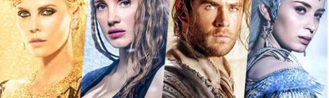 Charlize Theron, Jessica Chastain, Chris Hemsworth and Emily Blunt from The Huntsman Winter War posters