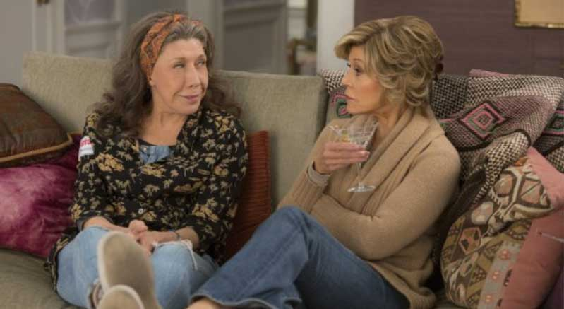 Grace And Frankie Set Design Slipcover Kitchen Counter Stools
