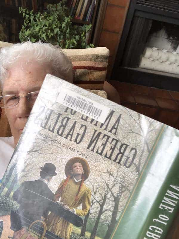 Virginia reading Anne of Green Gables